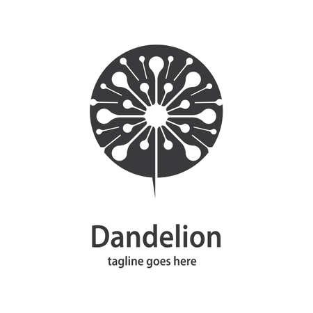 Dandelion symbol vector icon illustration design Ilustração