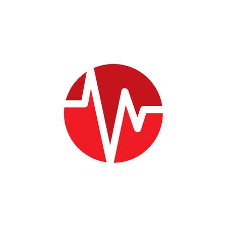 Pulse symbol vector icon illustration design Ilustração