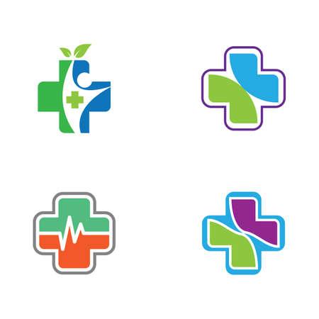 Medical cross vector icon illustration design