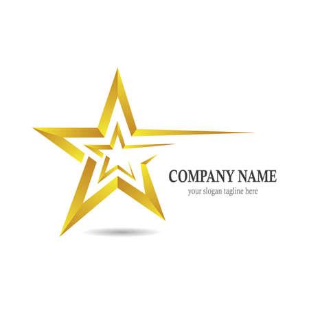 Gold star vector icon illustration design
