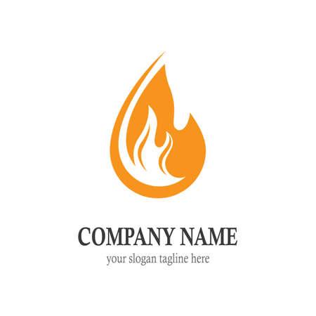 Fire symbol vector icon illustration