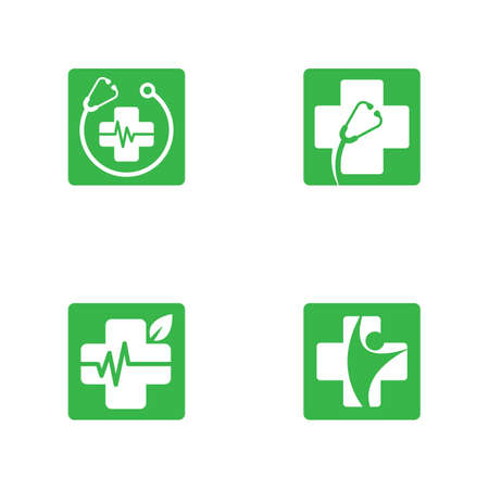 Medical cross symbol vector icon illustration design