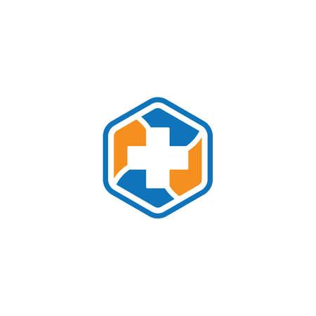 Medical cross symbol vector icon illustration design