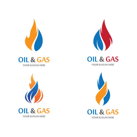 Oil and gas vector icon illustration