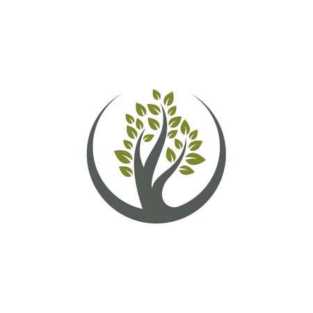 Tree symbol vector illustration design