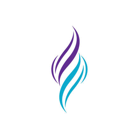 Hair logo and symbol vector icon design