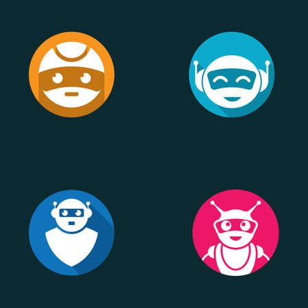 Robot symbol vector icon illustration design