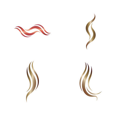 Hair logo and symbol vector icon design 版權商用圖片 - 158451675