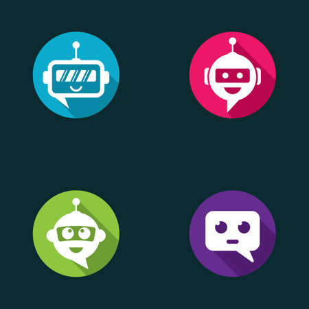 Chat bot symbol and logo vector icon design