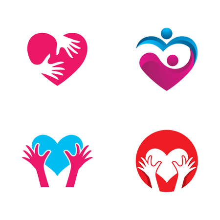 Giving love logo and symbol vector icon design