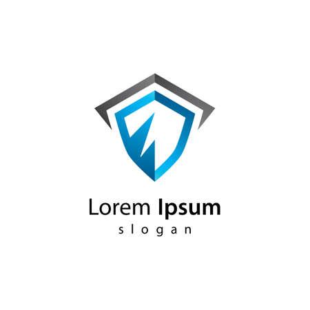 Shield gradient logo vector icon design 版權商用圖片 - 158451727