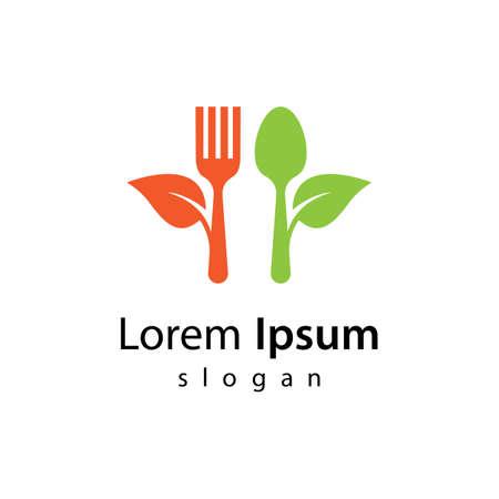 Healthy food logo vector design 版權商用圖片 - 158451737