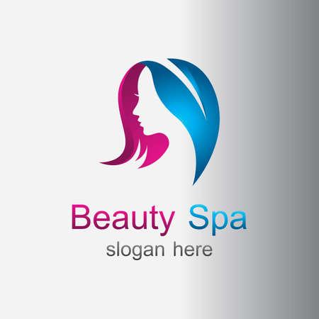 Beauty spa and salon logo vector design 版權商用圖片 - 158584957