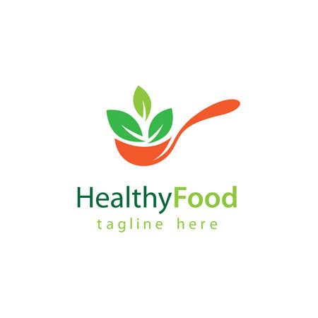 Healthy food logo vector design 版權商用圖片 - 158584954