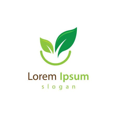 Vegetarian food logo vector design 向量圖像
