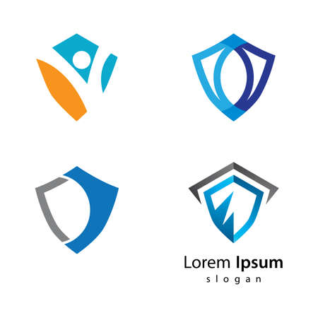 Shield logo vector icon illustration design 版權商用圖片 - 158584874