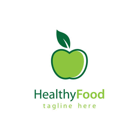 Healthy food logo vector design 版權商用圖片 - 158584872