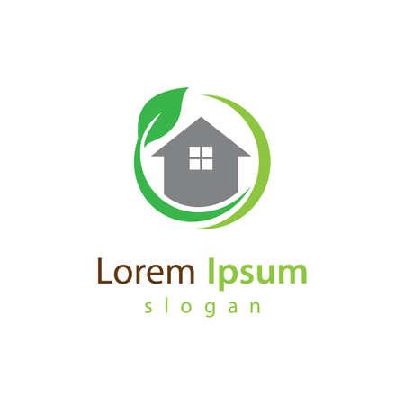 Eco home logo vector illustration design