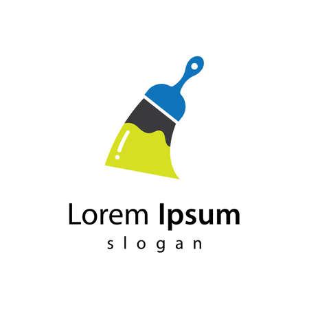 Paintbrush logo  vector icon illustration design
