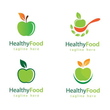 Healthy food logo vector design 版權商用圖片 - 158478398