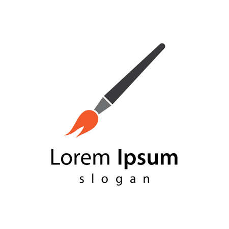 Paintbrush logo vector icon design 版權商用圖片 - 158584880