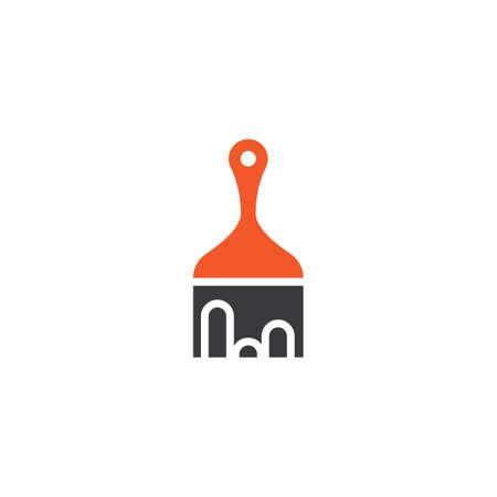Paintbrush logo vector icon design