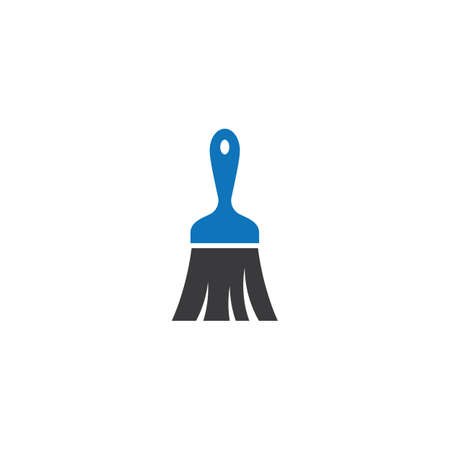 Paintbrush logo vector icon design 版權商用圖片 - 158584885