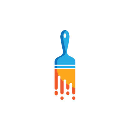 Paintbrush logo vector icon design 版權商用圖片 - 158584827