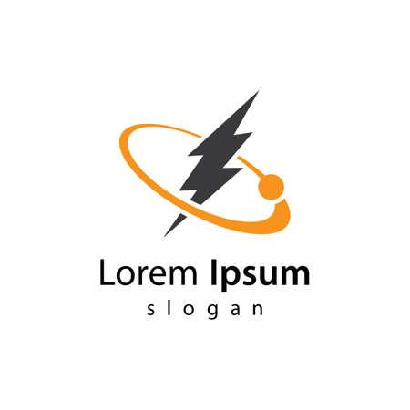 Lightning logo images illustration design