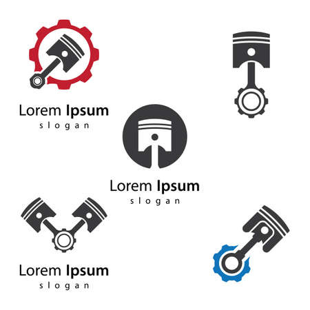 Piston logo images illustration design 向量圖像