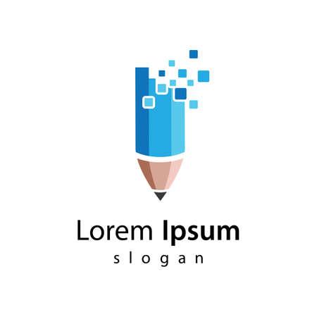 Digital pencil logo images illustration design 向量圖像