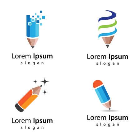 Pencil logo images illustration design