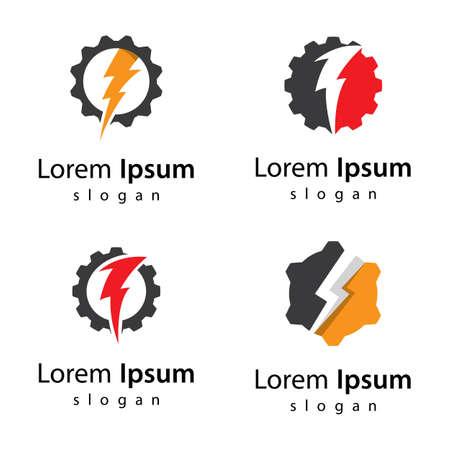 Gear power logo images illustration design