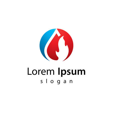 Oil and gas logo images  illustration design
