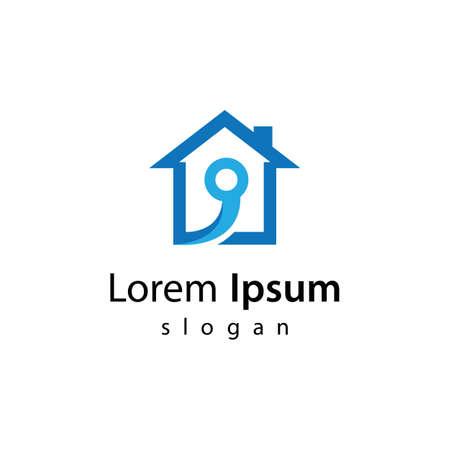 House tech logo images illustration design