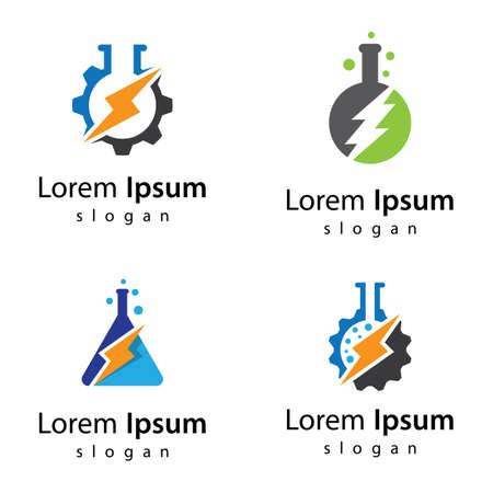 Power lab logo images illustration design