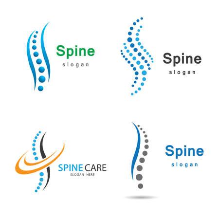 Spine logo images illustration design