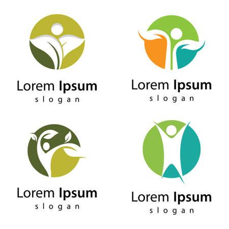 Nature life logo images illustration design