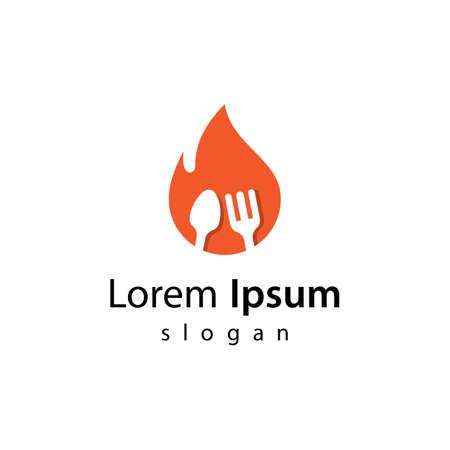 Hot food logo images illustration design 向量圖像