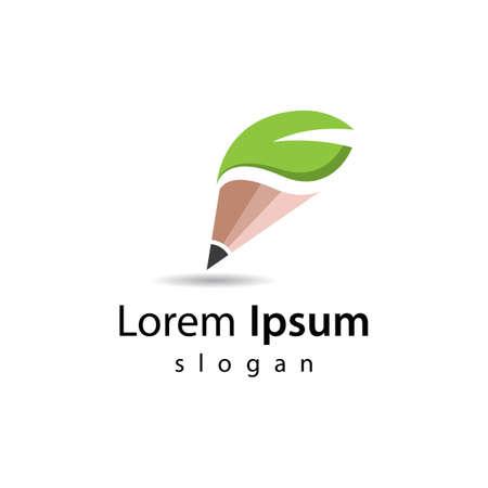 Nature pencil logo images illustration design 向量圖像