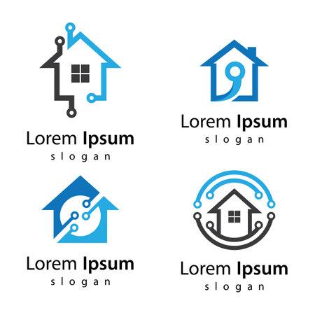 House tech images illustration design 向量圖像