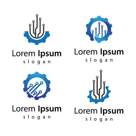 Gear trech logo images illustration design