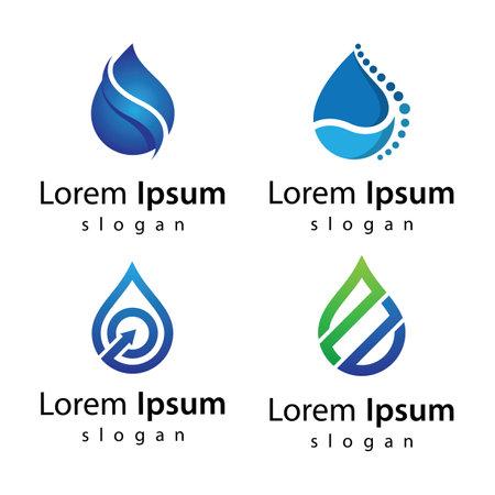 Water drop logo images illustration design