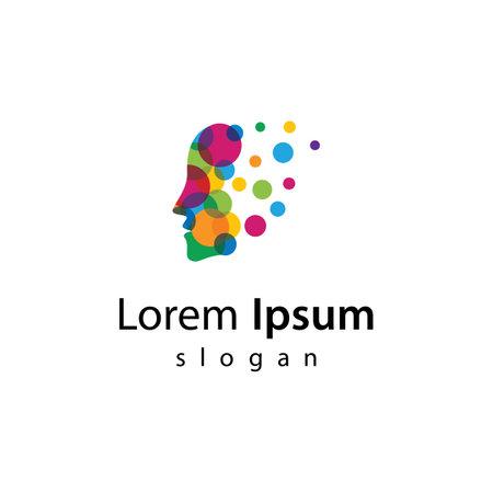 Brain smart logo images illustration design