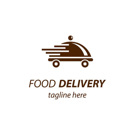 Food delivery logo images illustration design