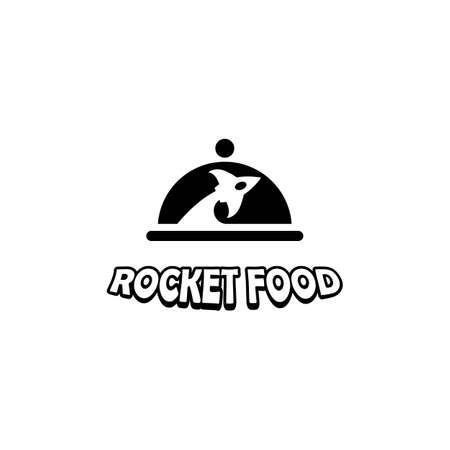 Rocket food logo images illustration design
