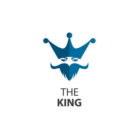 The king logo images illustration design 向量圖像