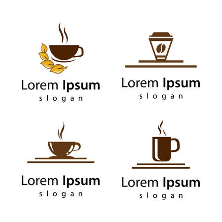 Coffee cup logo images illustration design