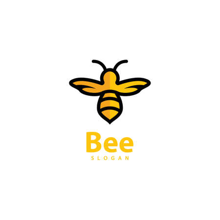 Bee logo images illustration design
