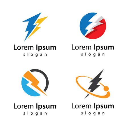 Lightning logo images  vector icon design